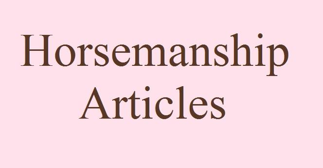 Horsemanship Articles