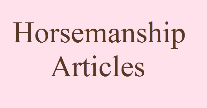 Horsemanship Articles